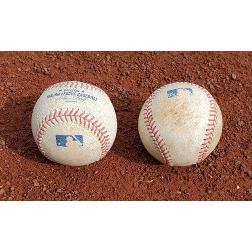 Photo of 2008 NLCS Phillies Game-Used Baseballs - Games 1 & 2
