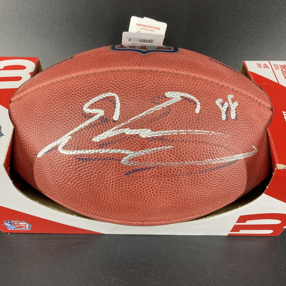 NFL - Giants Evan Engram Signed Authentic Football