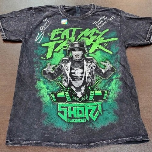 "Photo of Shotzi Blackheart SIGNED ""Eat My Tank"" Mineral Wash T-Shirt (Tanking Care of BizzNizz)"