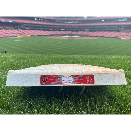 Photo of Cardinals Authentics: Game Used 1st Base from Cardinals vs. Giants Series July 16th-July 18th, 2021 - Used Innings 1-9 of Each Game