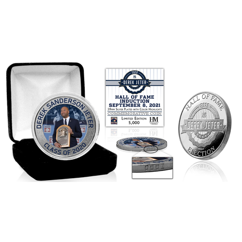 Photo of Derek Jeter Induction Day Silver Mint Coin LE #1