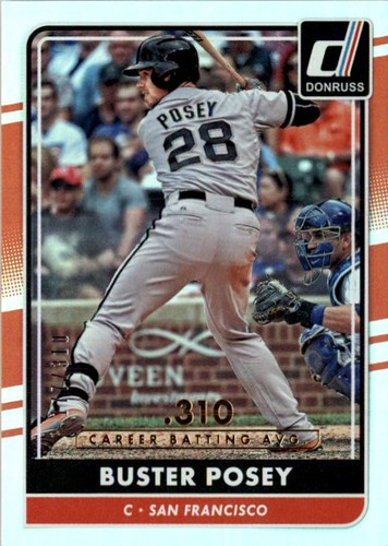 Photo of 2016 Donruss Stat Line Career #64 Buster Posey/310