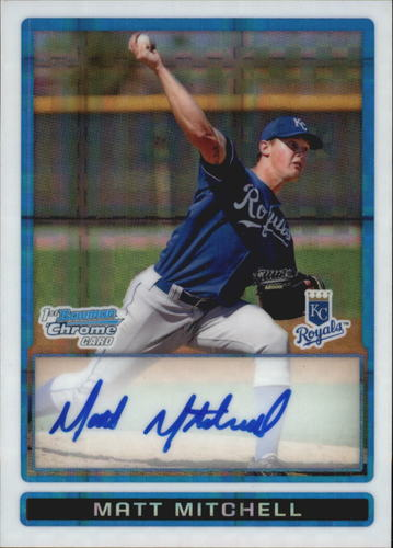 Photo of 2009 Bowman Chrome Prospects X-Fractors #BCP98 Matt Mitchell AU