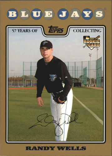 Photo of 2008 Topps Gold Border #593 Randy Wells