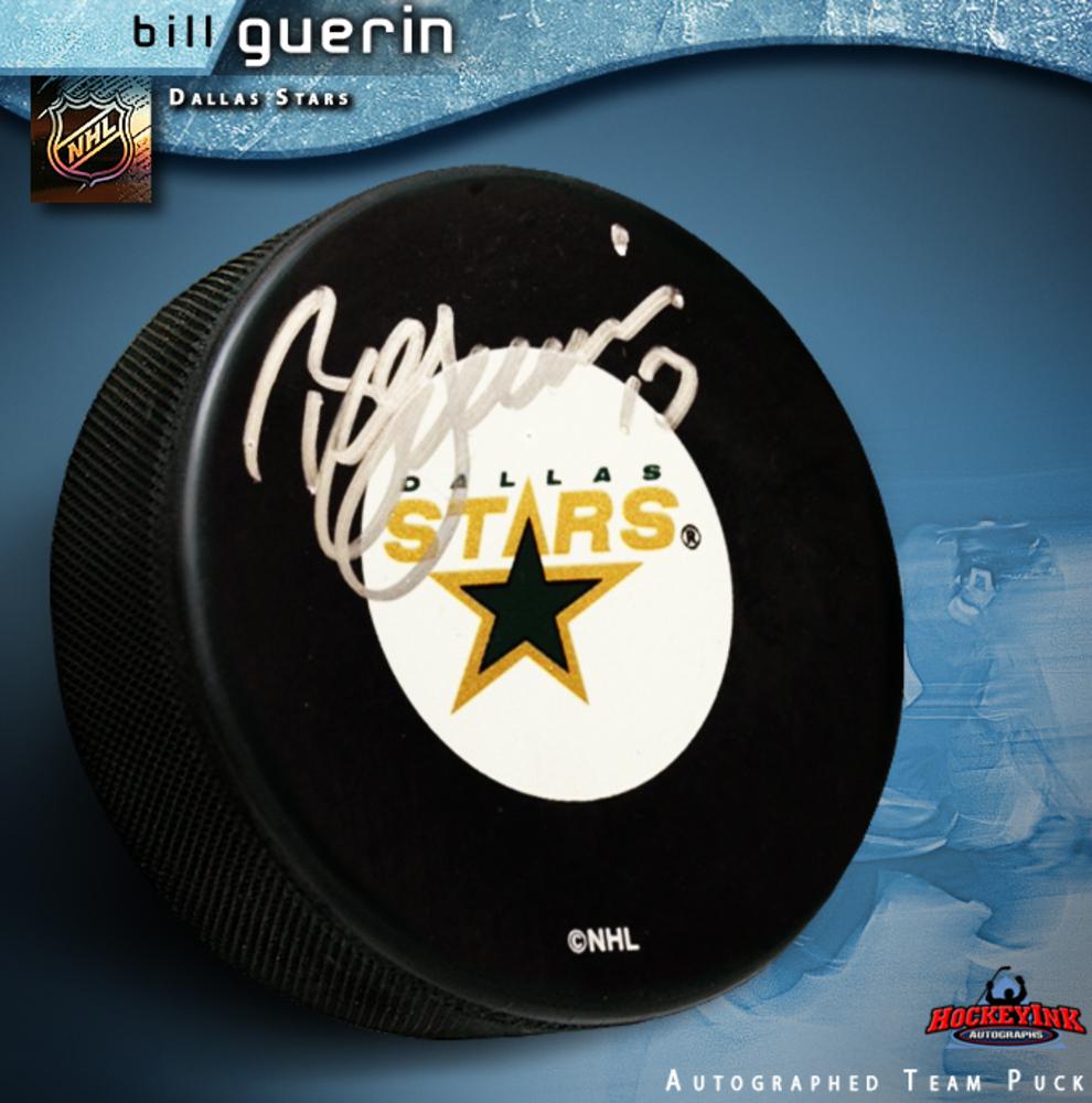BILL GUERIN Signed Dallas Stars Puck