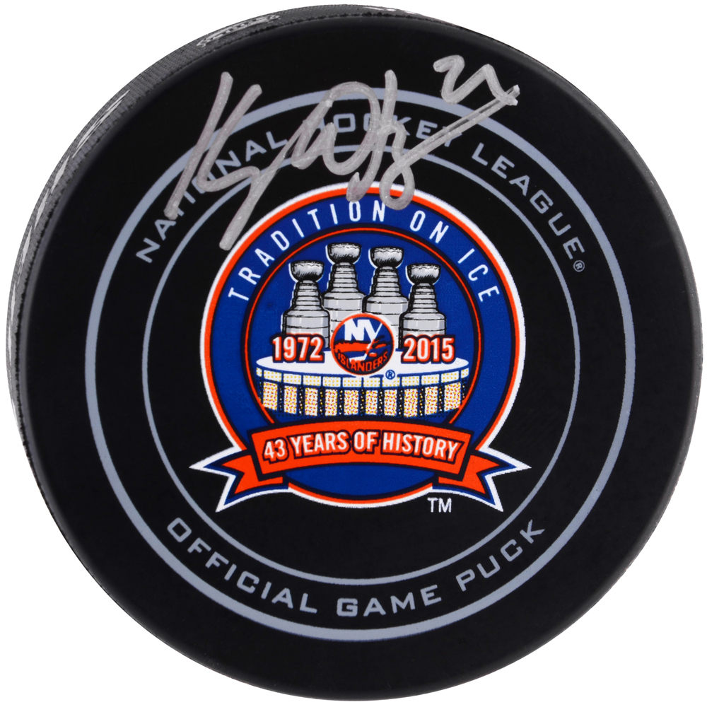 Kyle Okposo New York Islanders Autographed 43rd Anniversary Official Game Puck
