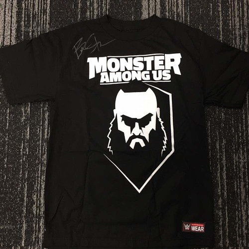 "Photo of Braun Strowman ""Monster Among Us"" SIGNED T-Shirt"