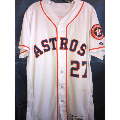 Photo of Jose Altuve Game-Used Home Jersey