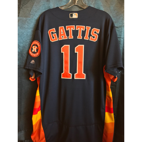 Photo of 2018 Game-Used Evan Gattis Sunday Alternate Jersey