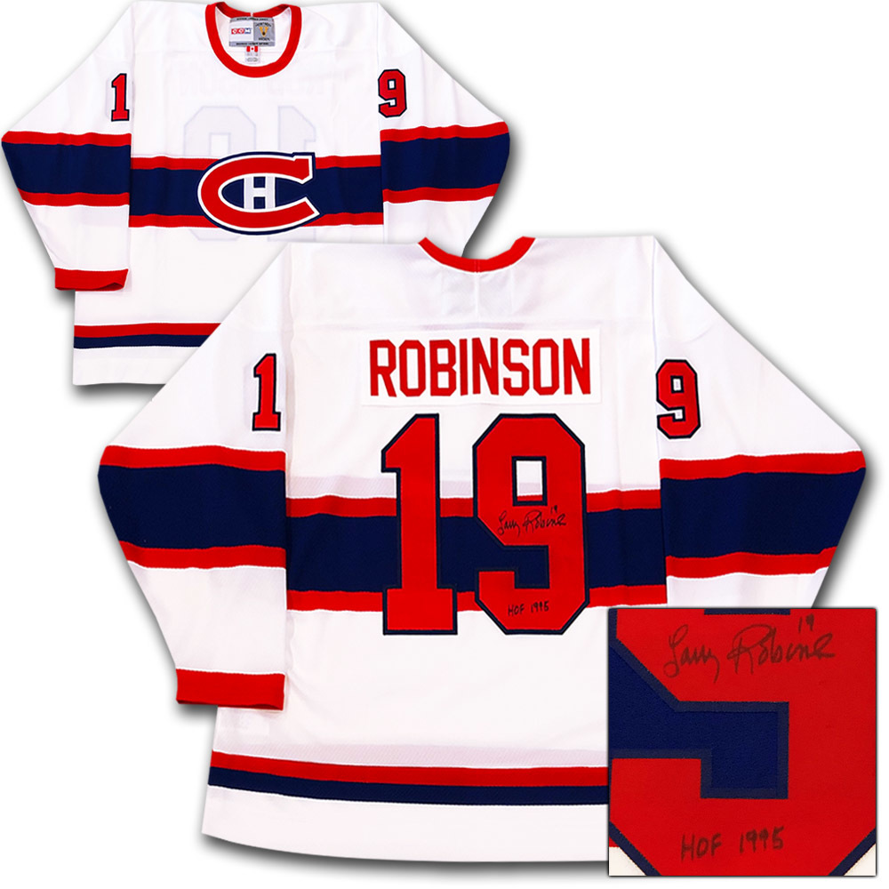 Larry Robinson Autographed Montreal Canadiens CCM Vintage Jersey
