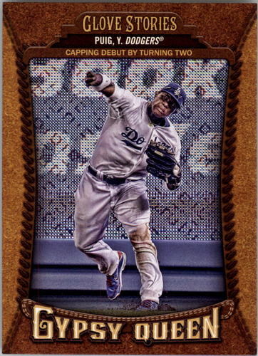 Photo of 2014 Topps Gypsy Queen Glove Stories #GSYP2 Yasiel Puig