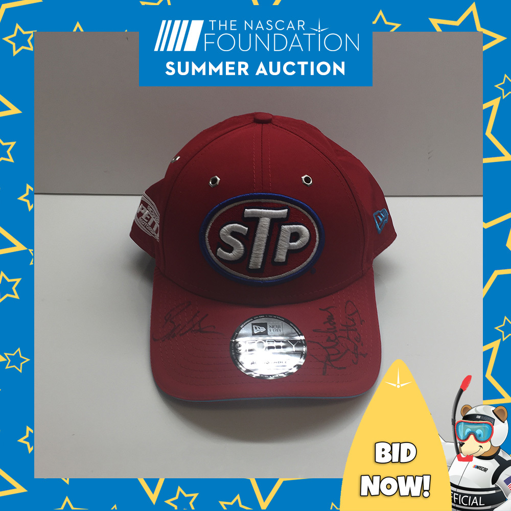 STP Hat autographed by Richard Petty and Bubba Wallace