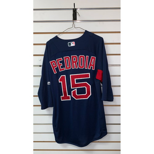 Photo of Dustin Pedroia Team Issued Road Batting Practice Jersey