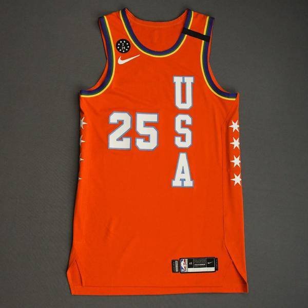 Image of Kendrick Nunn - 2020 NBA Rising Stars - Team USA - Game-Worn 1st Half Jersey