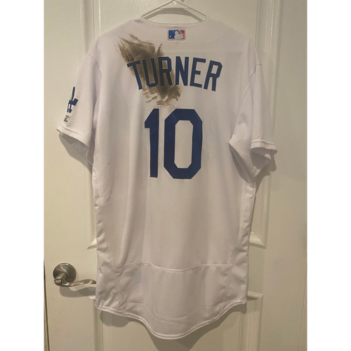 Photo of Justin Turner Game Used BLM 2020 Opening Day Jersey