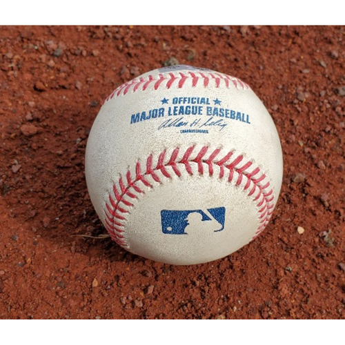 Photo of 2009 NLCS Phillies Game-Used Baseball - Game 3