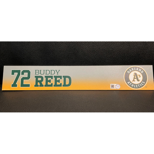 Photo of Buddy Reed Team Issued 2020 Spring Training Locker Nameplate
