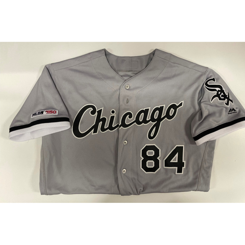 Photo of Dylan Cease 2019 Team Issued Grey Road Jersey