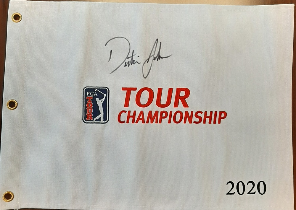 Dustin Johnson Autographed Pin Flag - Benefiting Warrick Dunn Charities