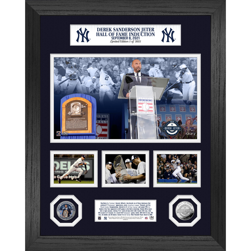 Photo of Derek Jeter Induction Day Marquee Silver Coin Photo Mint LE #1