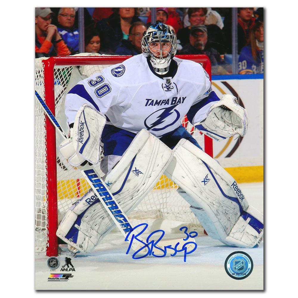 Ben Bishop Tampa Bay Lightning WHITE JERSEY Autographed 8x10