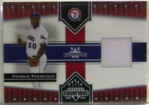 Photo of 2005 Donruss Champions Impressions Material #102 Frankie Francisco Jsy T4