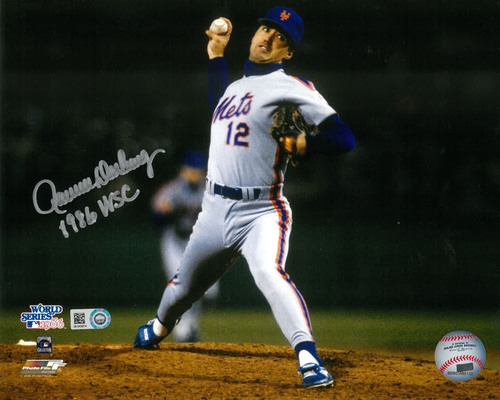 "Photo of Ron Darling - Autographed 8X10 Photo - Inscribed ""1986 WSC"""