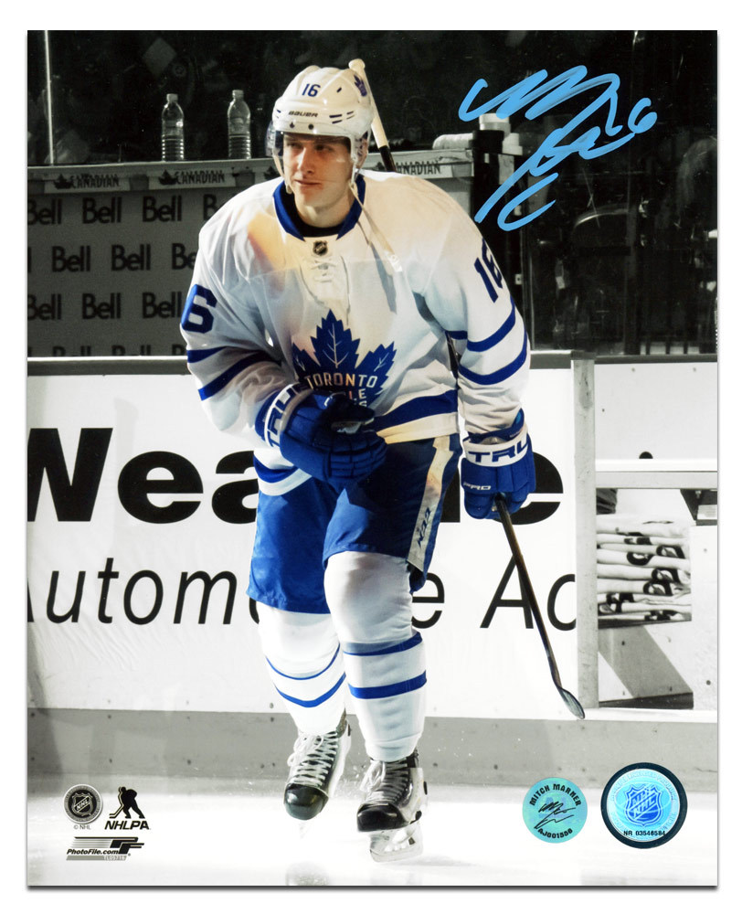Mitch Marner Toronto Maple Leafs Autographed NHL Debut First Step 16x20 Photo