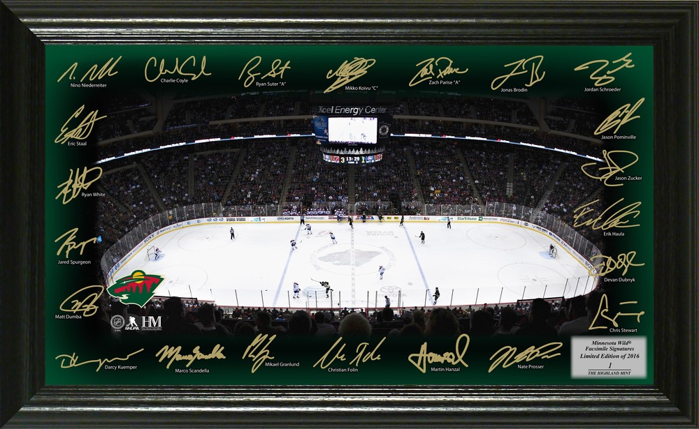 Serial #1 Minnesota Wild Signature Rink