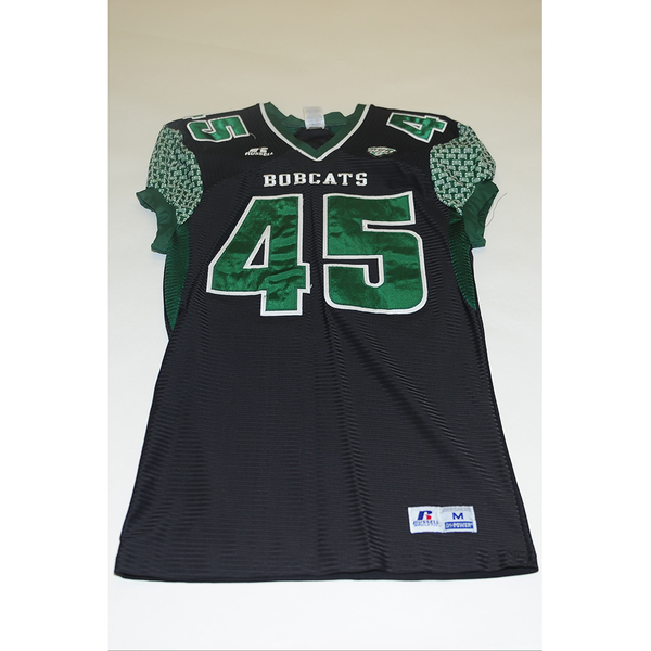 Photo of # 45 - Official OHIO BOBCATS Game Worn Football Jersey (2011) - SIZE MEDIUM