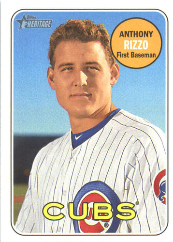 Photo of 2018 Topps Heritage #20 Anthony Rizzo