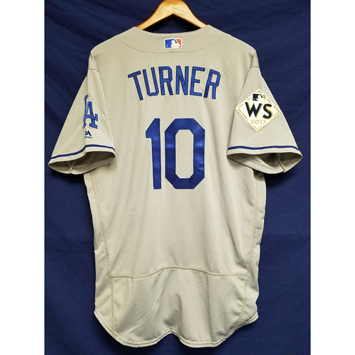 Photo of Justin Turner 2017 Road World Series Team-Issued Jersey