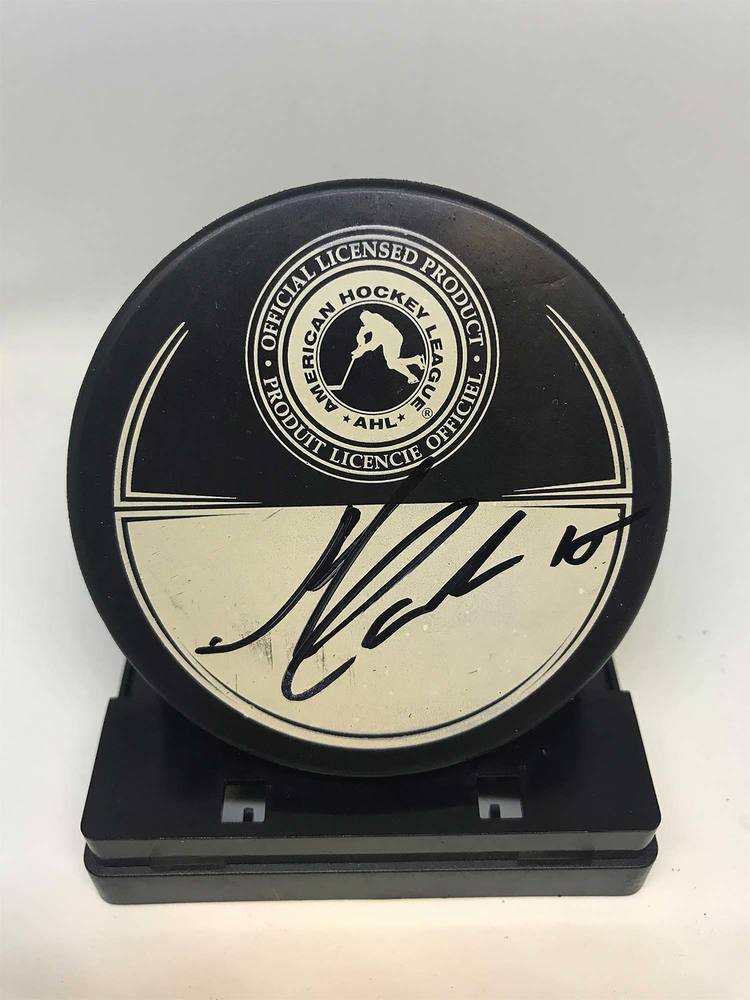 2013 Dunkin' Donuts AHL All-Star Classic Souvenir Puck Signed by #15 Mark Cundari