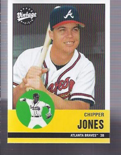 Photo of 2001 Upper Deck Vintage #176 Chipper Jones -- Hall of Fame Class of 2018