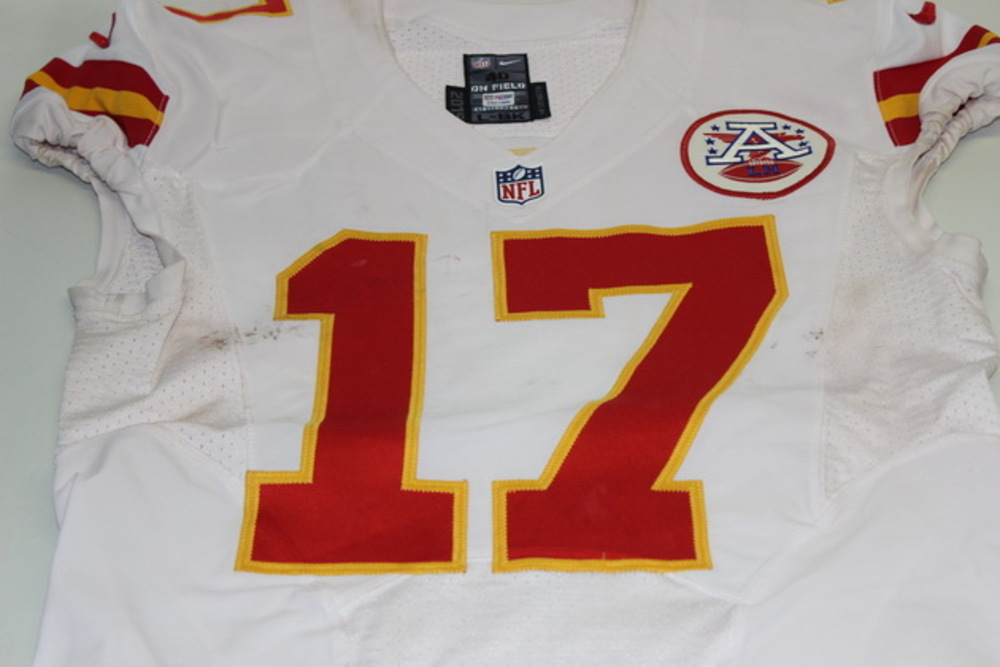 NFL Auction | STS - CHIEFS CHRIS CONLEY GAME WORN CHIEFS JERSEY ...