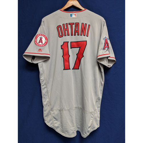 Photo of Shohei Ohtani Game- Used Road Jersey - 9/9/18 LAA vs. CWS