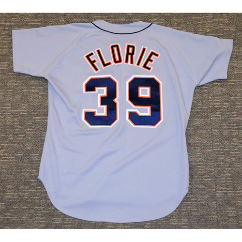 Photo of Bryce Florie Detroit Tigers #39 Road Jersey (NOT MLB AUTHENTICATED)