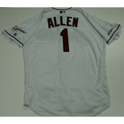 Photo of Greg Allen 2019 Team Issued Home White Jersey