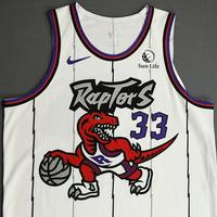 Marc Gasol - Toronto Raptors - Game-Worn Classic Edition 1995-96 Home Jersey - Double-Double - 2019-20 Season