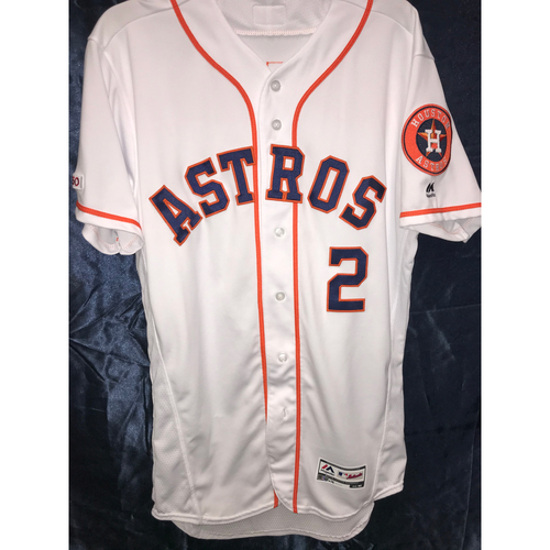 Photo of 2019 Team-Issued Alex Bregman Home White Jersey (Size 42)