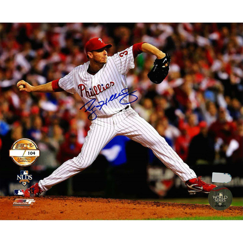 Photo of Roy Halladay 2010 NLDS Game 1 No-Hitter Autographed Photo