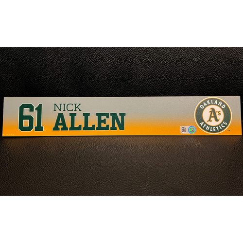Photo of Nick Allen Game-Used 2020 Spring Training Locker Nameplate