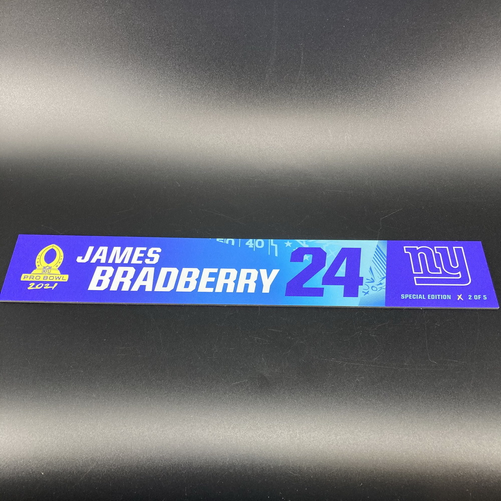 NFL - Giants James Bradberry 2021 Pro Bowl Locker Nameplate Special Edition #2 of 5