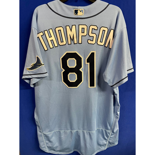 Photo of Game Used 2020 Spring Training Jersey: Ryan Thompson - 2 Games - Rookie Season - February 27 v DET & March 4 v TOR