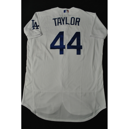Photo of Hank Aaron Chasing the Dream Foundation: Chris Taylor 2021 MLB All-Star Workout Day BP-Worn # 44 Jersey