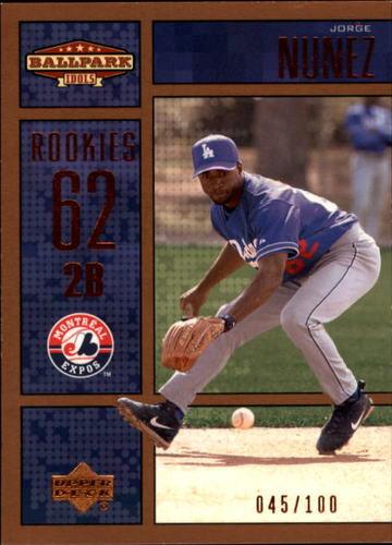 Photo of 2002 Upper Deck Ballpark Idols Bronze #219 Jorge Nunez ROO