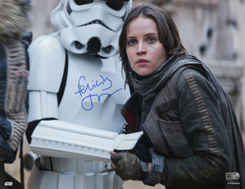 Felicity Jones as Jyn Erso Autographed in Blue Ink 11x14 Photo
