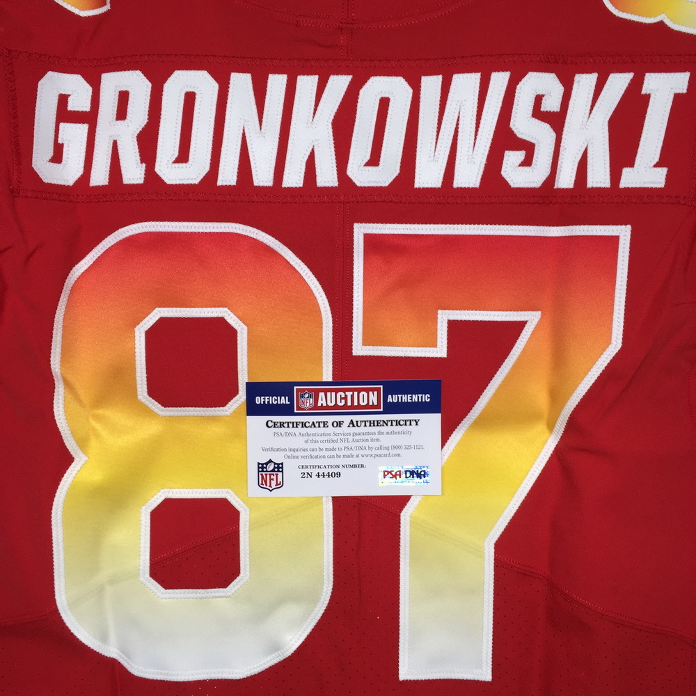 premium selection a9f00 5922b NFL Auction | NFL - PATRIOTS ROB GRONKOWSKI 2018 GAME ISSUED ...