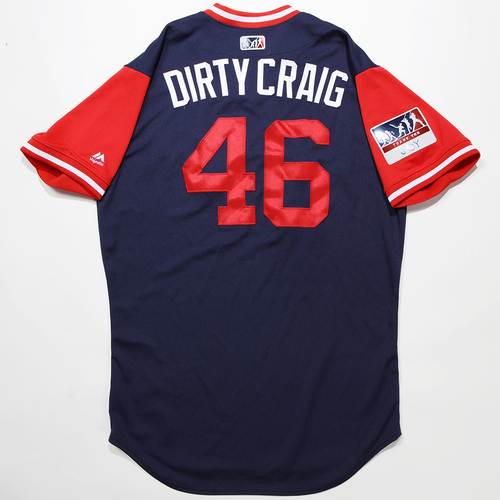 """Photo of Craig """"Dirty Craig"""" Kimbrel Boston Red Sox Game-Used 2018 Players' Weekend Jersey"""