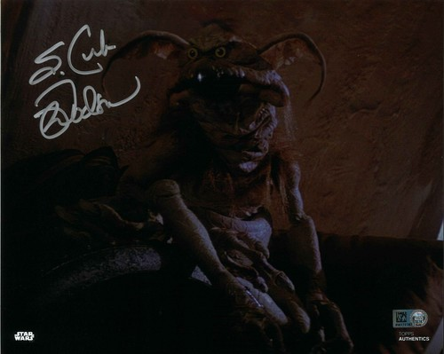 Mark Dodson As Salacious B. Crumb 8x10 Autographed in Silver Ink Photo